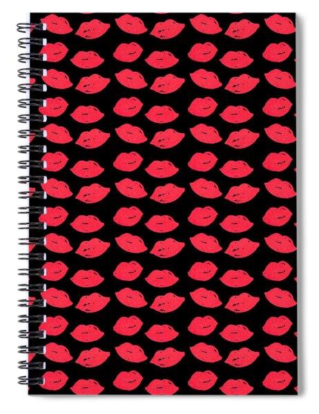 Lips Spiral Notebook