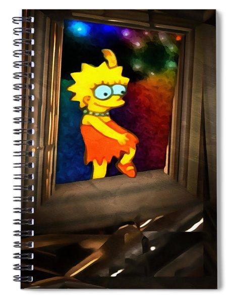 Lisa Steps Out Spiral Notebook
