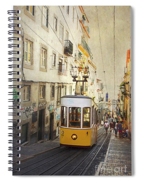 Lisbon Yellow Tram Spiral Notebook