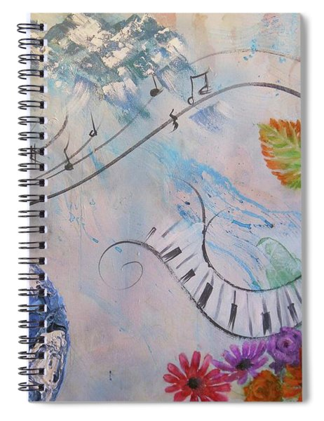 Listen To The Earth Song Spiral Notebook