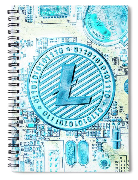 Litecoin Design Spiral Notebook