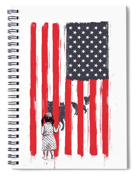 Little Girl And Wolves Spiral Notebook