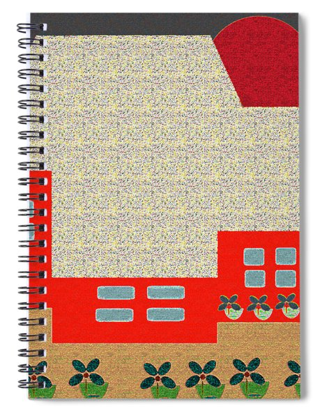 Little House Painting 4 Spiral Notebook