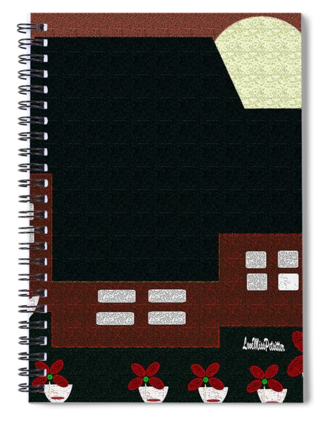 Little House Painting 9 Spiral Notebook