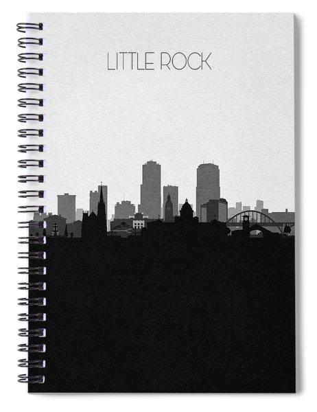 Little Rock Cityscape Art Spiral Notebook