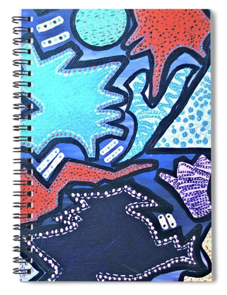 Spiral Notebook featuring the painting Live Abstract Painting  by Samantha Galactica