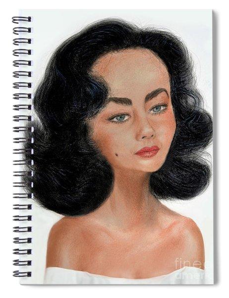 Liz Taylor Caricature II Spiral Notebook