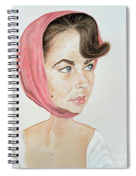 Liz Taylor Caricature  Spiral Notebook