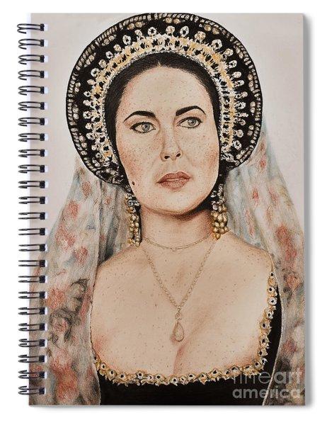 Liz Taylor Renaissance Portrait Spiral Notebook