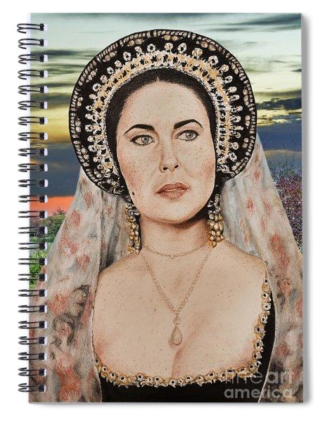 Liz Taylor Renaissance Portrait At Sunset Spiral Notebook