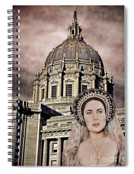 Liz Taylor Renaissance Portrait Before The Storm Spiral Notebook