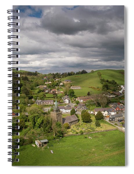 Llangurig From The Air Spiral Notebook
