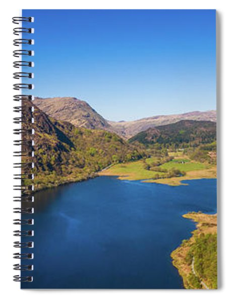 Llyn Dinas, Snowdonia From The Air Spiral Notebook