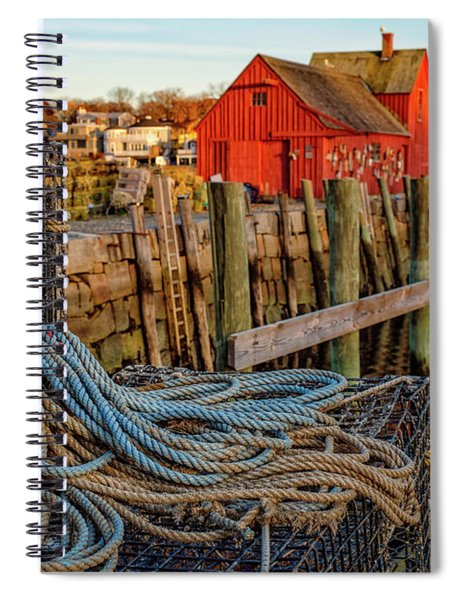 Lobster Traps And Line At Motif #1 Spiral Notebook