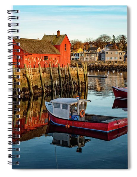 Lobster Traps, Lobster Boats, And Motif #1 Spiral Notebook