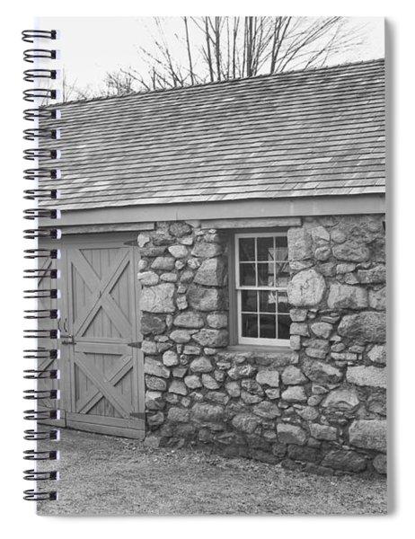 Lock House, Detail - Waterloo Village Spiral Notebook