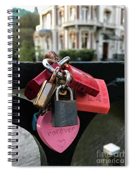 Lock Up Your Love Spiral Notebook