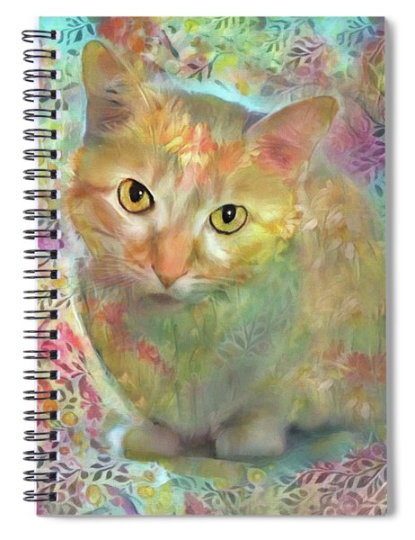 Lola The Ginger And White Tabby Cat Spiral Notebook