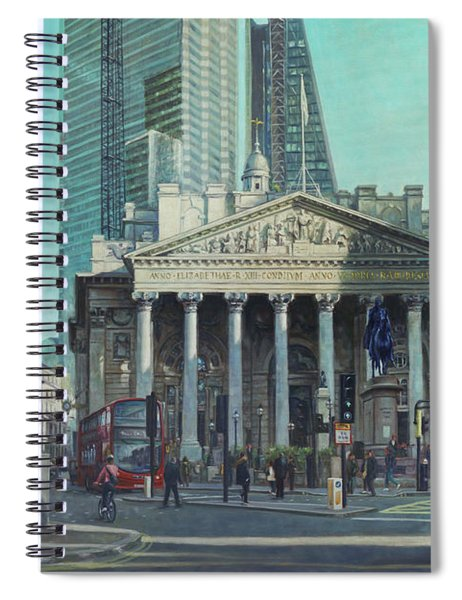 London City Bank Area In Sunny Autumn Spiral Notebook