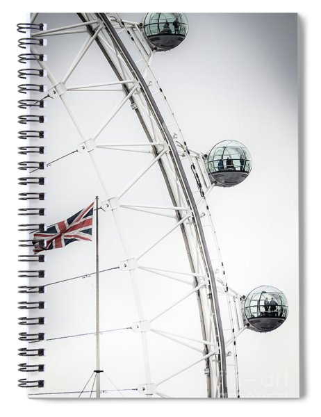 London Eye And Union Jack Spiral Notebook
