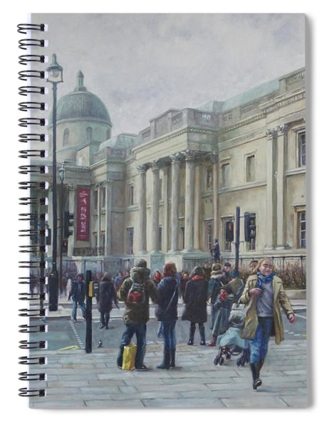 London National Gallery In The Winter Spiral Notebook