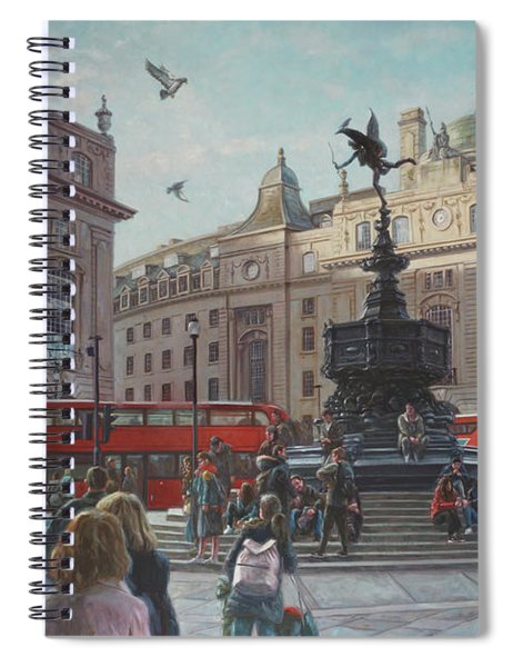 London Piccadilly Circus With Evening Light Spiral Notebook