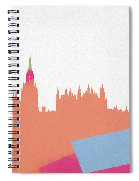 London Pop Art Skyline Spiral Notebook