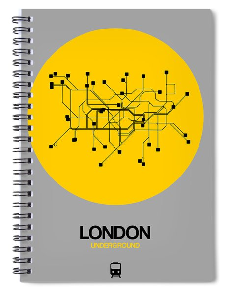 London Yellow Subway Map Spiral Notebook