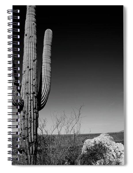 Lone Saguaro Square Spiral Notebook