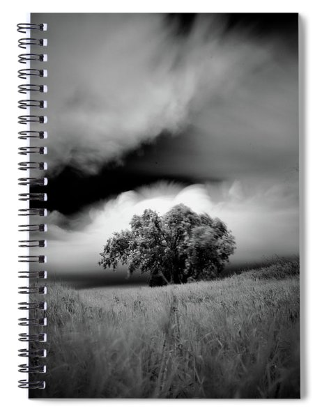 Lone Tree On A Hill Spiral Notebook