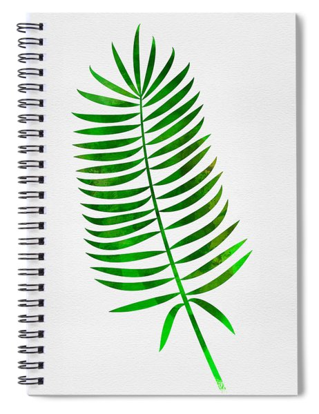 Lonely Tropical Leaf I Spiral Notebook