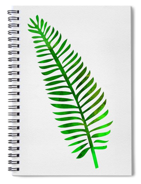 Lonely Tropical Leaf II Spiral Notebook