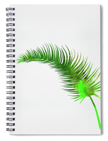 Lonely Tropical Leaf Spiral Notebook