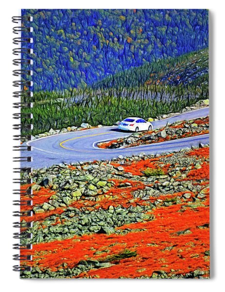 Spiral Notebook featuring the photograph Long And Winding Road by Patti Whitten
