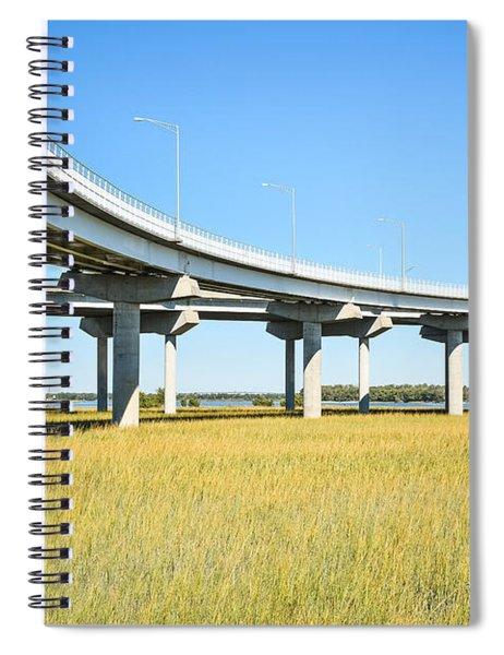 Long Concrete Bridge  Spiral Notebook