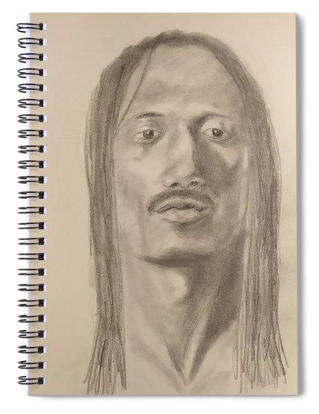 Long Hair Style Spiral Notebook