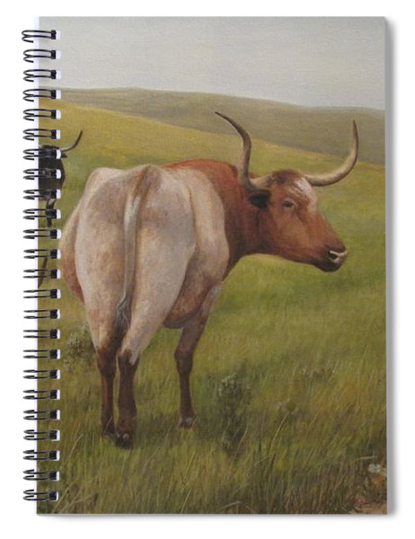Long Horns Spiral Notebook