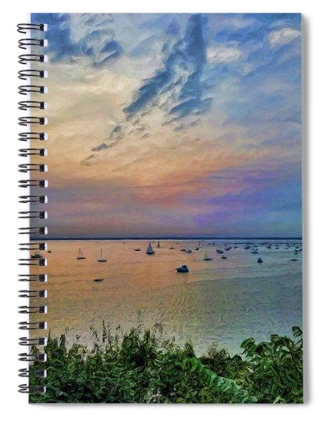 Long Island Sound From Glen Cove Spiral Notebook