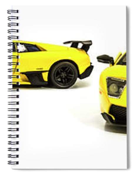 Long Lambo Lineup  Spiral Notebook