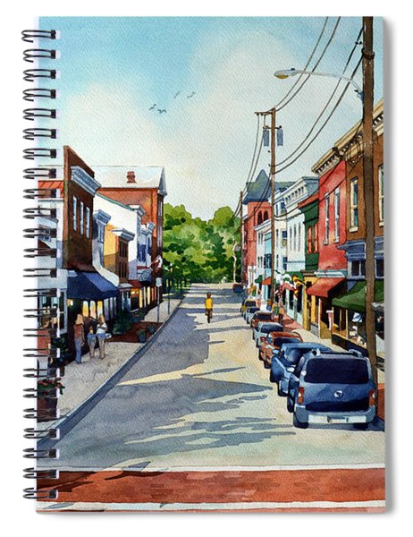 Long, Lonely Ride Spiral Notebook