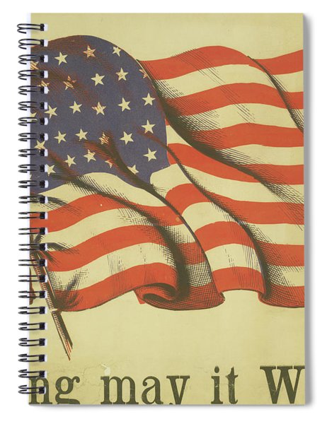 Long May It Wave Spiral Notebook