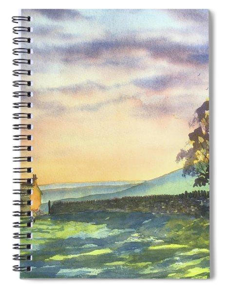 Long Shadows At Sunset Spiral Notebook