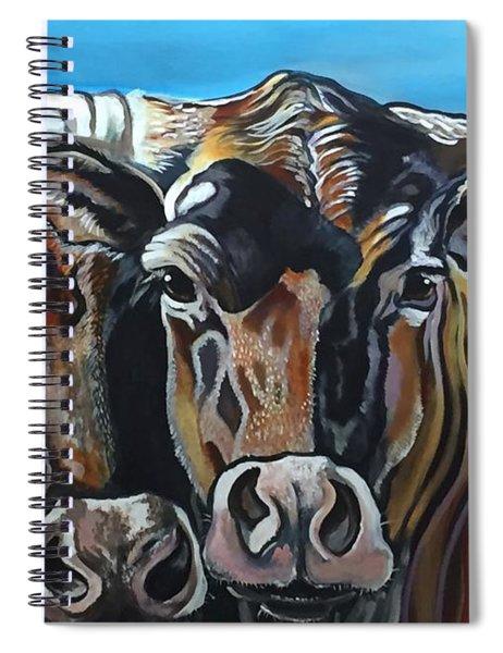 Longhorns, Interrupted Spiral Notebook