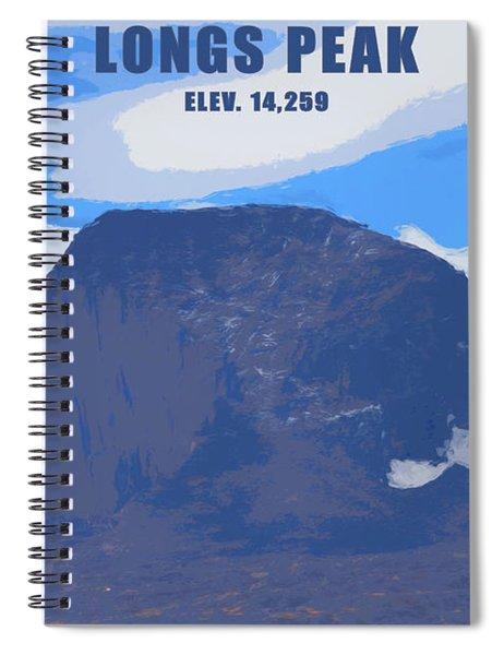 Longs Peak Elevation Spiral Notebook