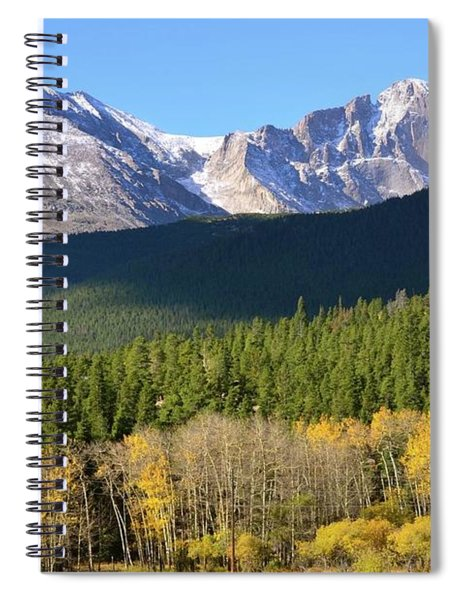 Longs Peak In The Fall Spiral Notebook