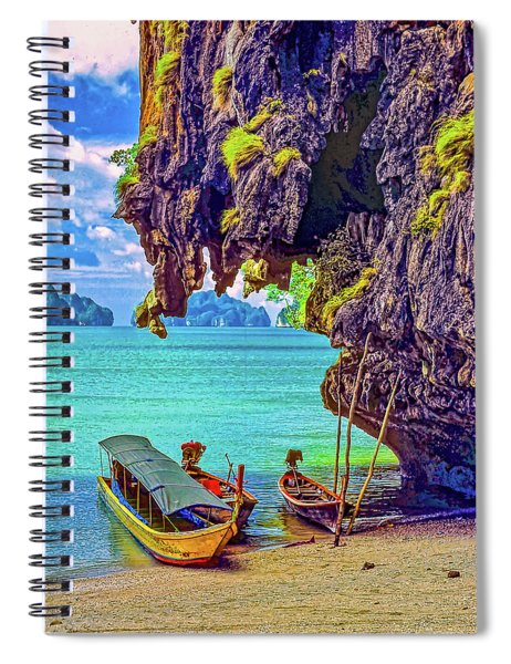 Longtail Boats - Phang Nga Bay - Thailand Spiral Notebook