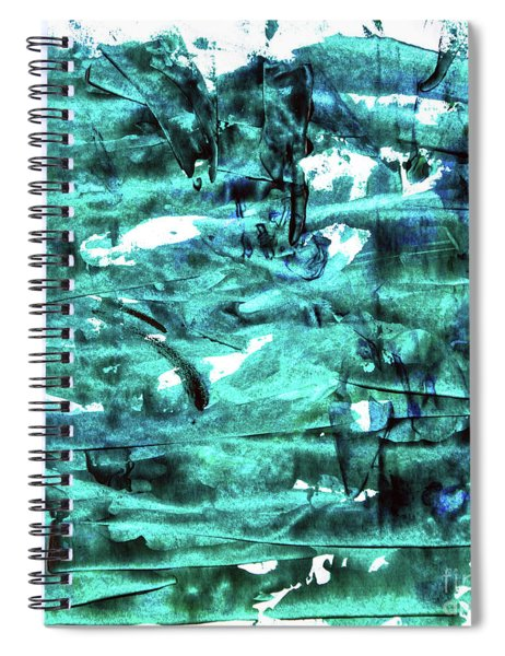 Look For The Blue Heart Spiral Notebook