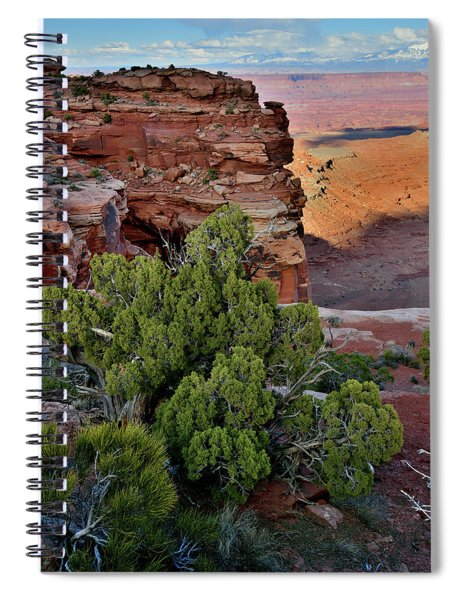 Looking East From Grand View Point In Canyonlands Spiral Notebook