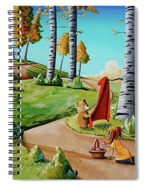 Looking For Little Red Riding Hood Spiral Notebook