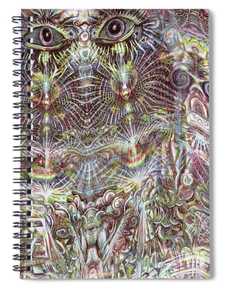 Looking Through Spiral Notebook